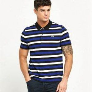 Lacoste Stripes Polo shirt for Men with crocodile